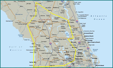 Leesburg Florida Map.Bottled Water Delivery In Ocala Gainesville Leesburg Citrus